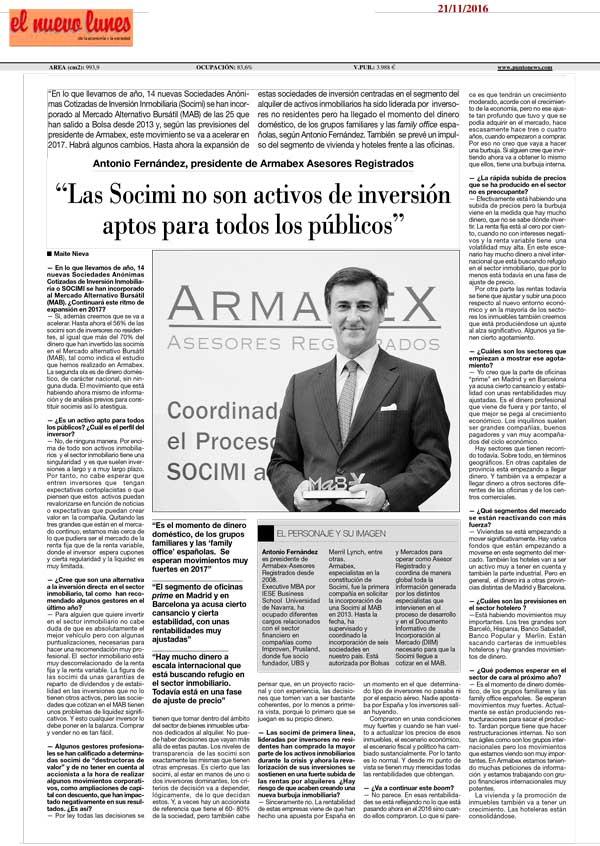 Las SOCIMI no son activos de inversión aptos para todos los públicos