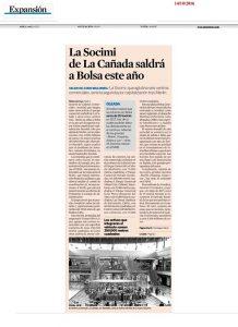 La socimi de La Cañada saldrá a Bolsa este año