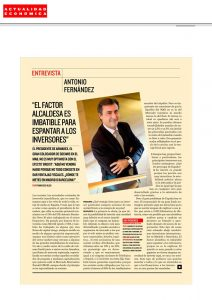 EL FACTOR ALCALDESA ES IMBATIBLE PARA ESPANTAR A LOS INVERSORES